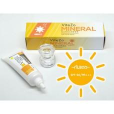 ViteZo Mineral Sunscreen ไวท์โซ่ กันแดด น้ำแร่ SPF50 PA+++ เหมาะกับทุกสภาพผิว